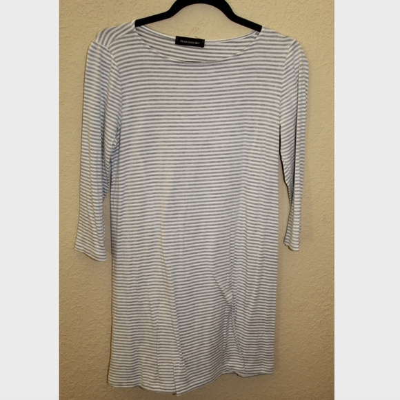 Hourglass Lilly Dresses & Skirts - Hourglass Lilly Tshirt Dress Grey and White Stripe